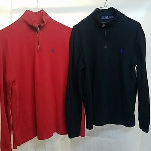 Two pull over Ralph Lauren  zip sweaters
